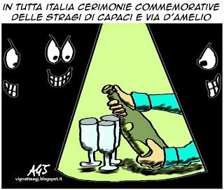 Capaci, D'amelio, mafia, satira , vignetta