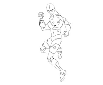 #7 Cyborg Coloring Page