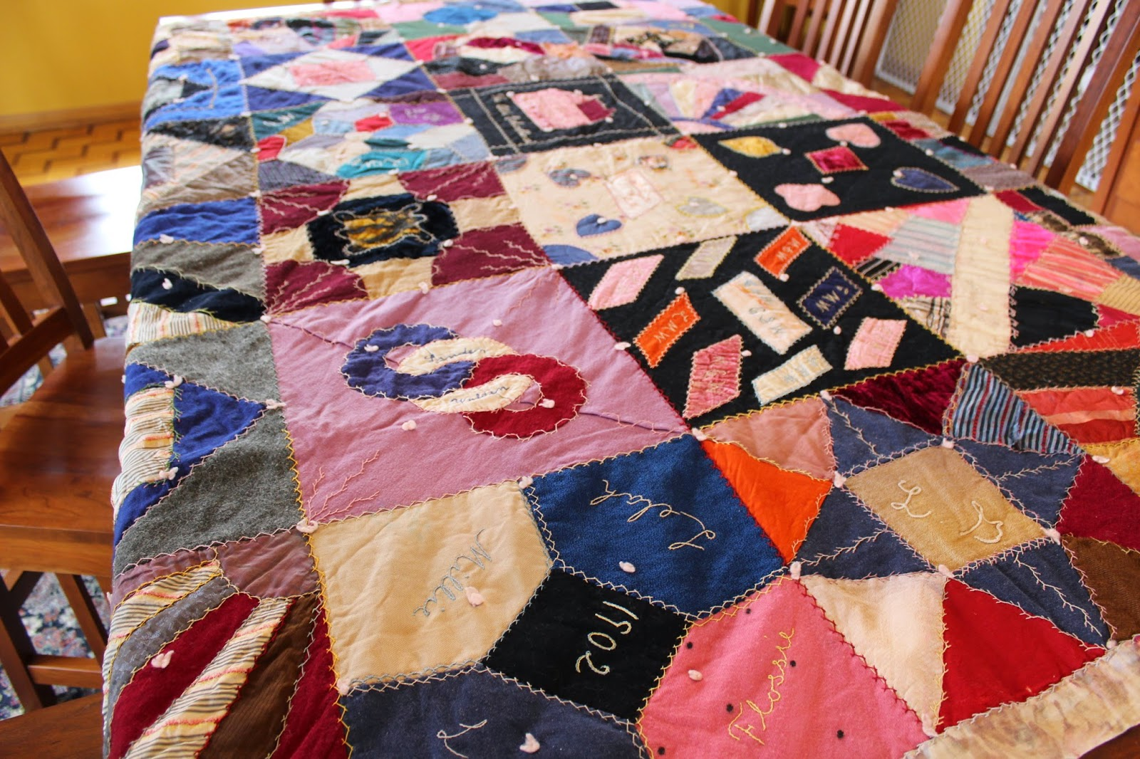 Ohio Thoughts~: Look What I Found: Antique Handmade Quilt