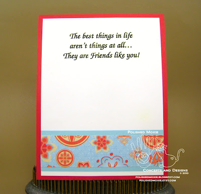 Picture of the inside of my friendship card