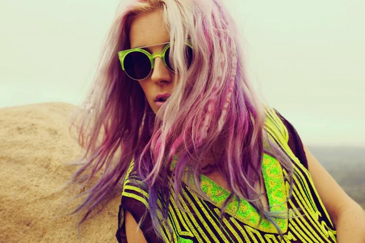 Chloe Norgaard Purple Hair