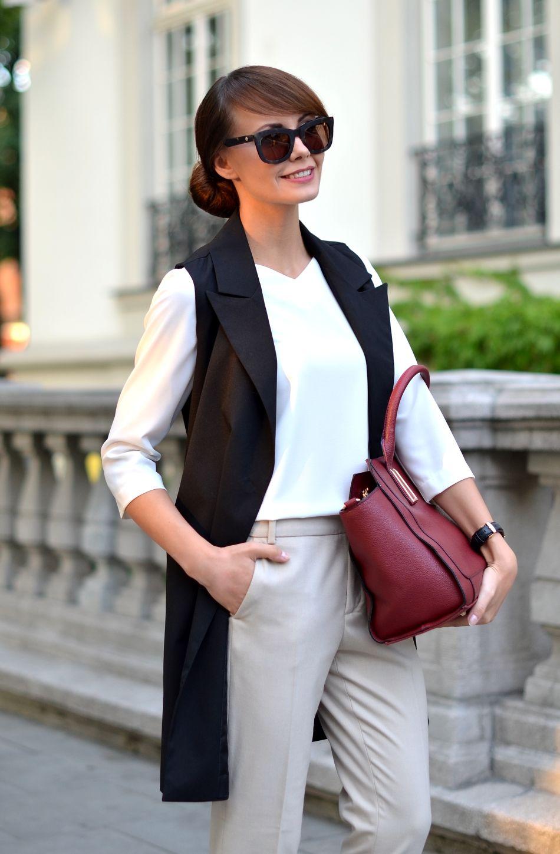 stroj do pracy | dress code | klasyczne bezowe spodnie | blog modowy | blogi o modzie | blog o modzie | krakow blog modowy
