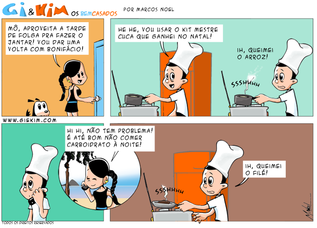 Gi & Kim Tirinha 0408 - Mestre Cuca!
