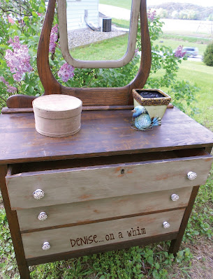 KarlyesAntiqueDresser4 Guest Post: Antique Dresser Refinish from Denise&hellip;On a Whim
