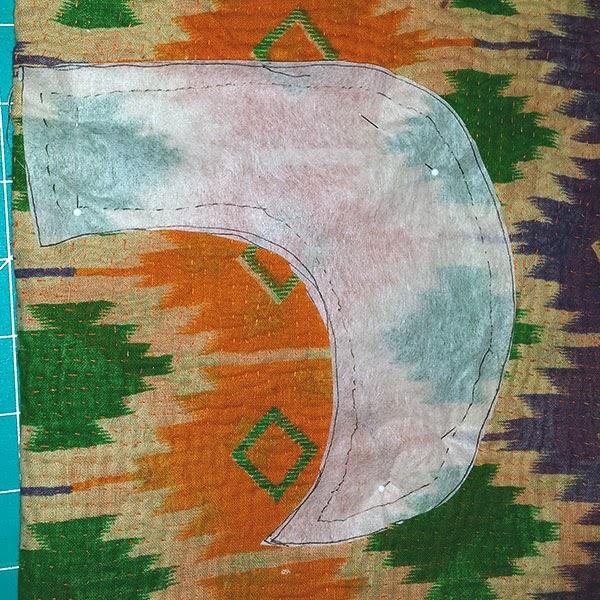 Sewing Kantha Fabric Collars with Santina Cessor-3