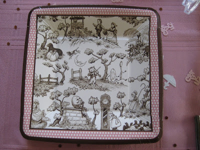 Hand Painted Nursery Rhyme Cake Inspiration - Themed Plate