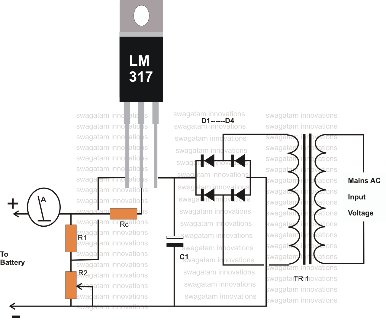12 volt usb charger circuit diagram