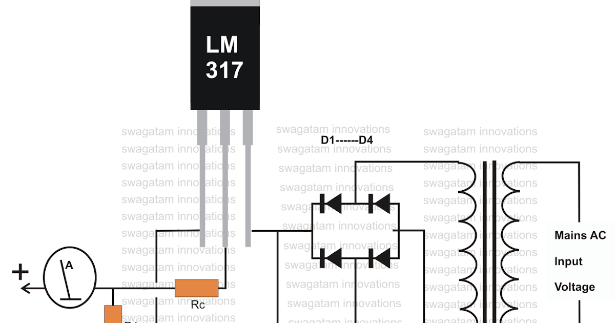 how to make an inexpensive current controlled 12 volt battery charger circuit using ic 317