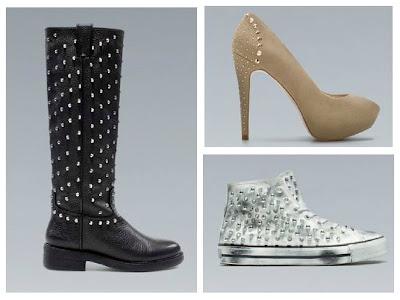 Scarpe con borchie di Zara  autunno/inverno 2012/13