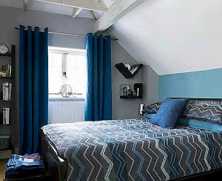 Living room design blue bedroom colors ideas for Blue and black bedroom ideas