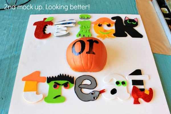 hot glue some foam letters and a foam pumpkin to foam core. Instant halloween sign! and for cheap  #spookyspaces #myclevernest #halloween