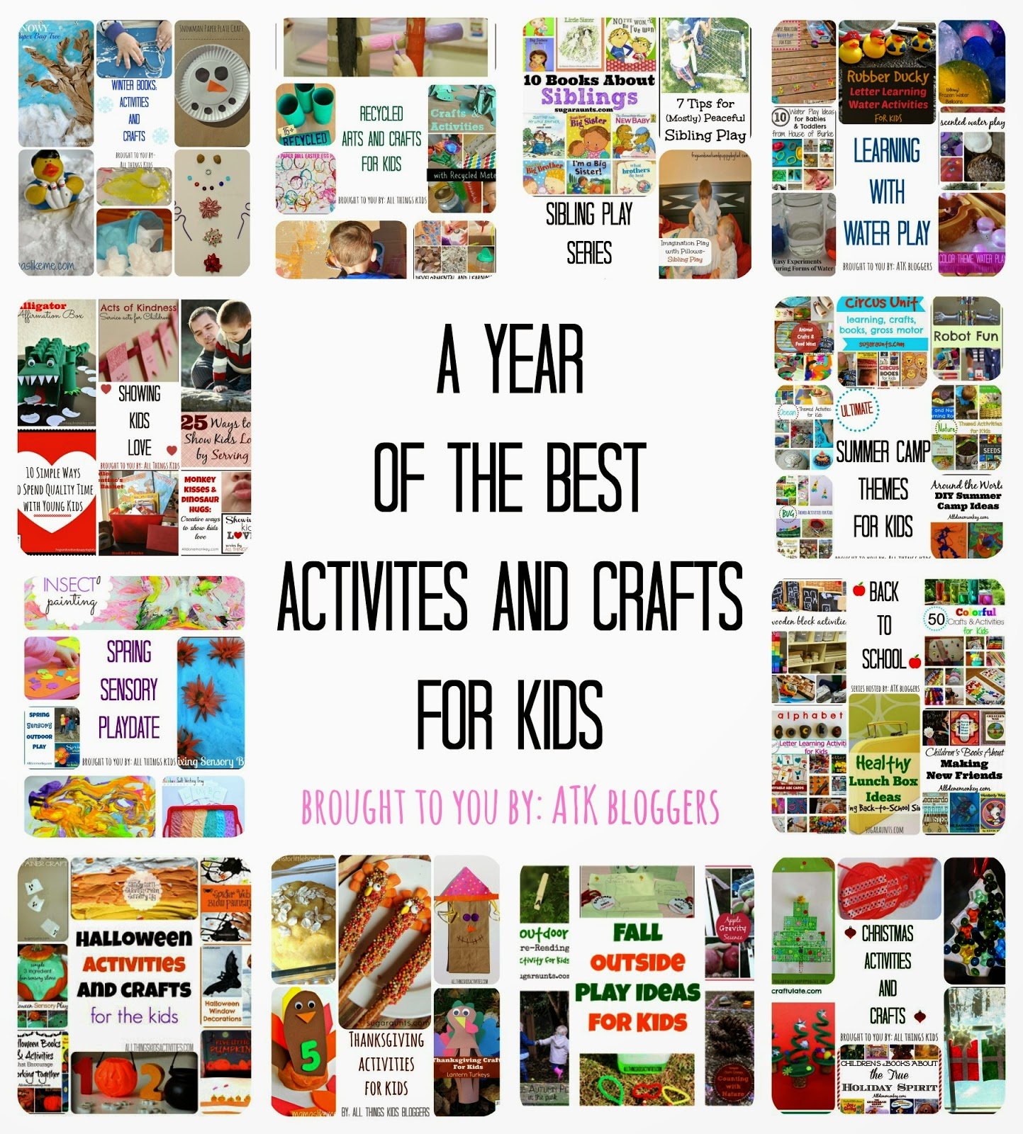 A Year of All Things Kids Series- the best play activities and crafts for kids