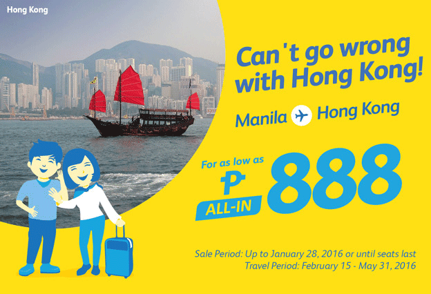 Cebu Pacific Manila to Hong Kong Promo 2016