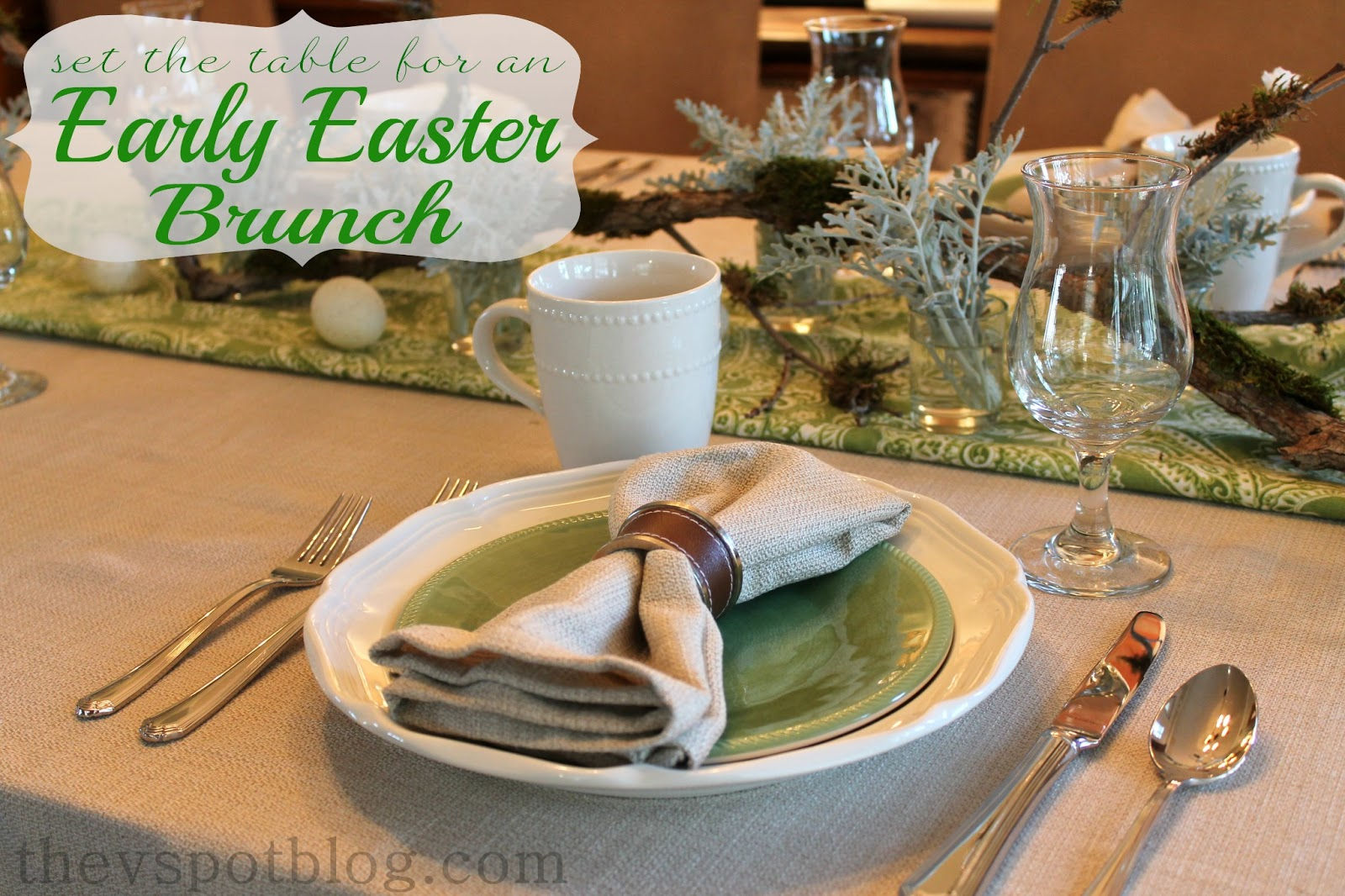 Tablescape ideas for an early easter brunch the v spot for Table 6 brunch