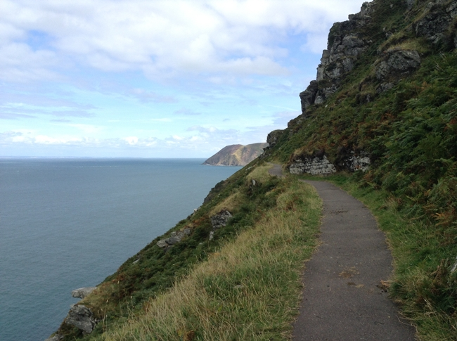 mountains hills somerset england sea landscape pretty path