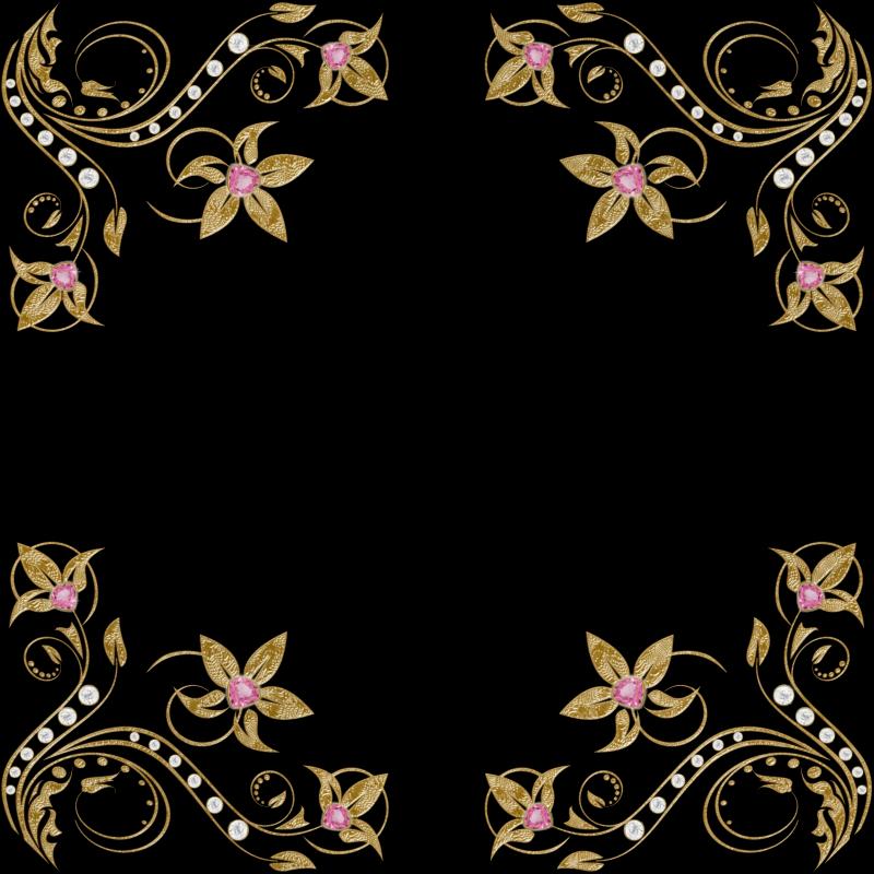 7 bellos bordes dorados para fotos gratis en png marcos for Espejos finos decorativos