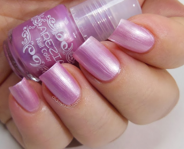 frosted pink nail polish