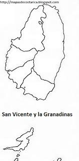 Mapa mudo de San Vicente y las Granadinas
