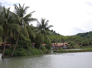A heavenly view of a village near Inani Beach