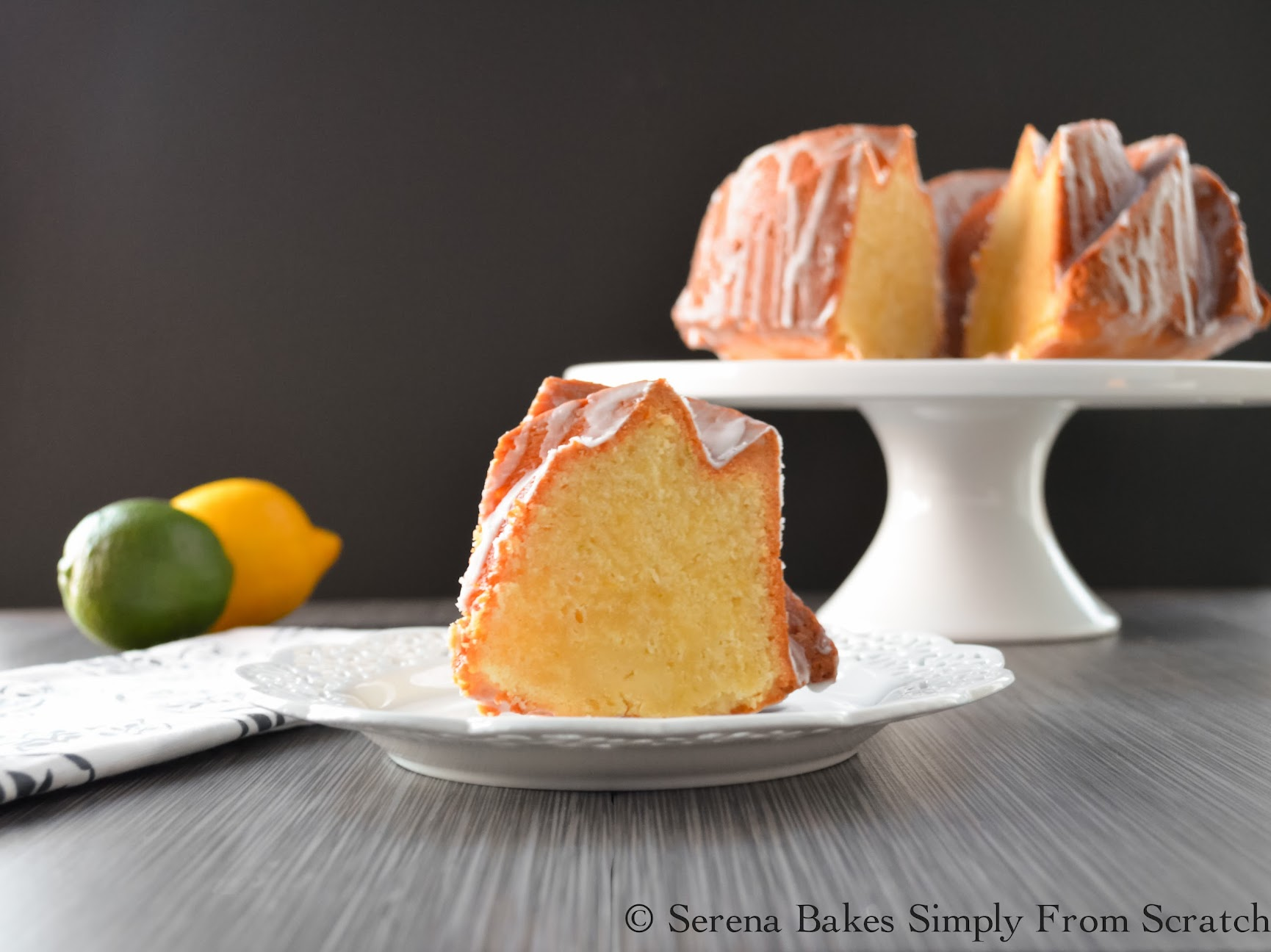 Lemon Lime Pound Cake made with 7 up.