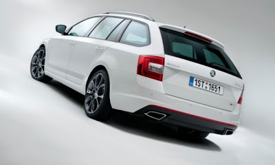 Skoda Octavia RS 2013 White