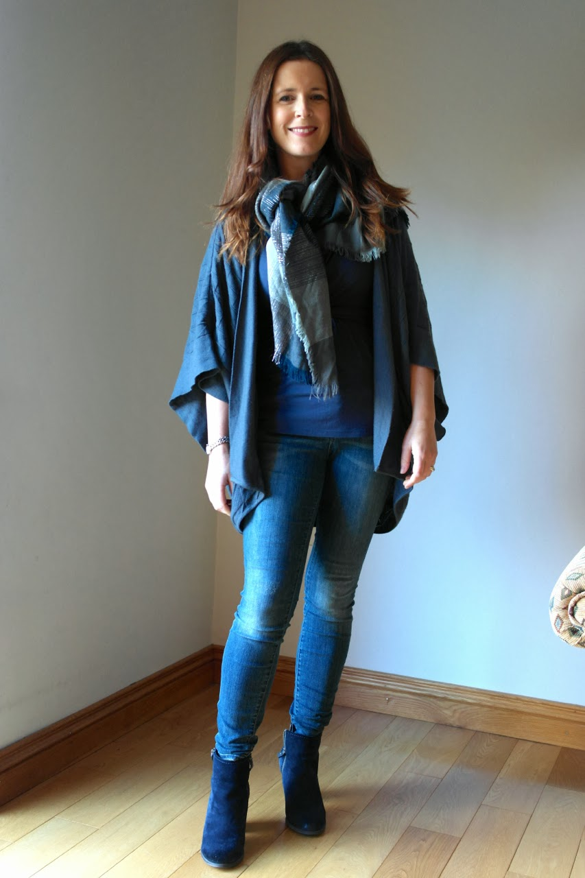 Blue+Grey1 Cosy Cocoon Cardigan