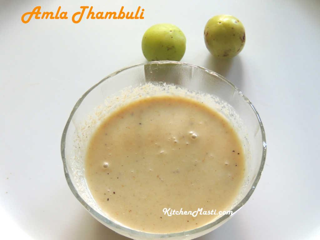 Amla Nellikai Thambuli Gooseberry Recipe