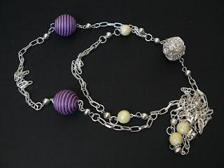 biżuteria z półfabrykatów - plecionki (naszyjnik)