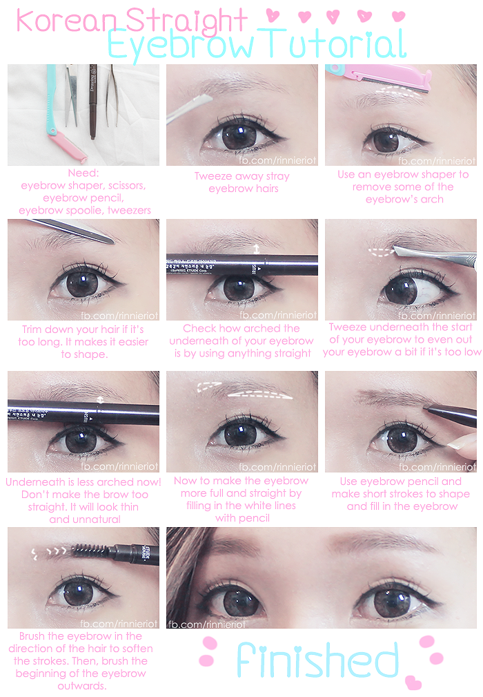 Korean Straight Eyebrow Tutorial!