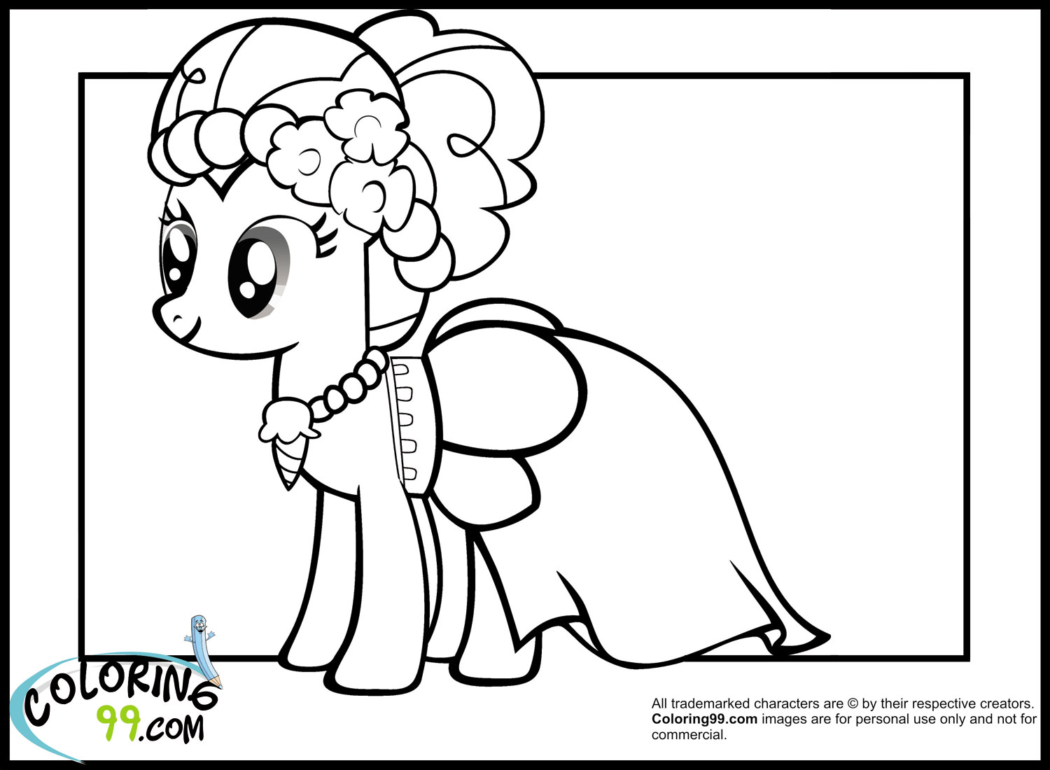 pinkie pie coloring pages for kids