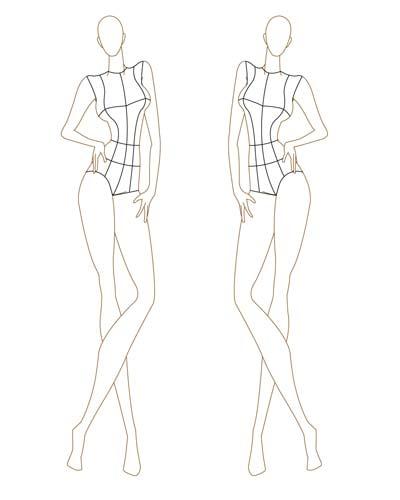 elvis fernandes fashion sketch esbol o de moda. Black Bedroom Furniture Sets. Home Design Ideas