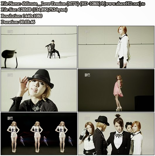 Download PV 4Minute - Love Tension (MTV Full HD 1080i)