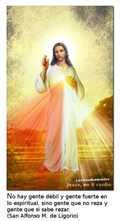 divina misericordia con mensaje de sus santos