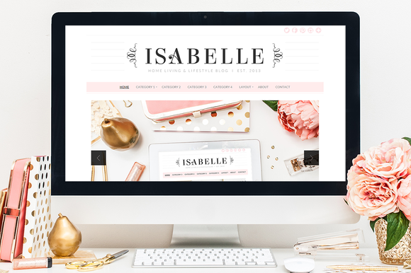 Isabelle feminine wordpress themes