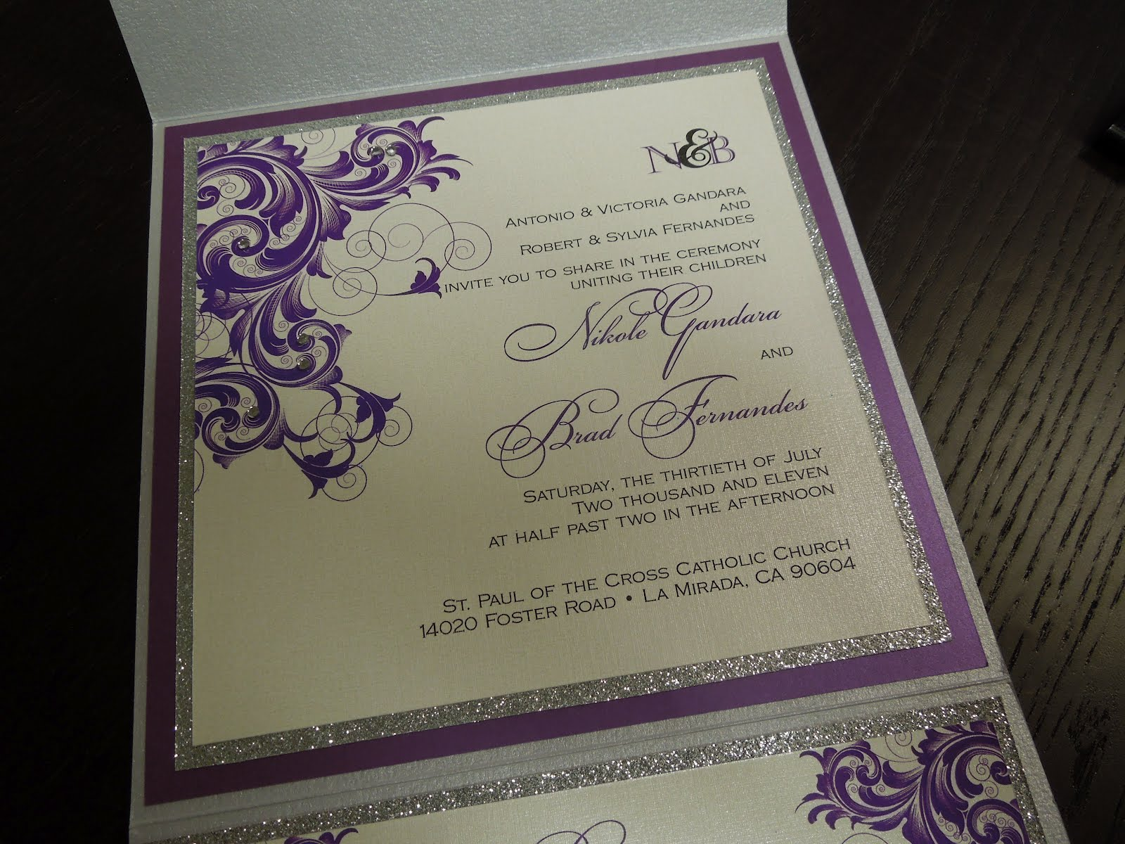 Glitter Wedding Invitations 5 Cute Glitter wedding invitation