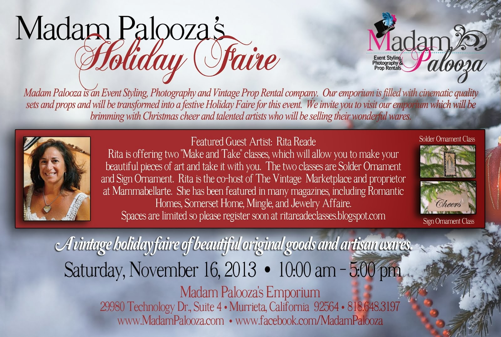Join me for a lovely Holiday Event!