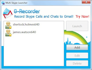 Multi Skype Launcher Screenshot