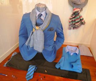 blue blazer, azure