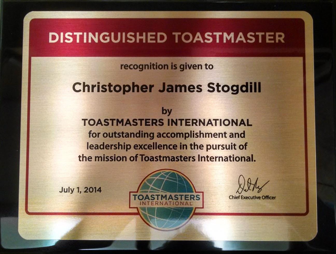 My DTM award
