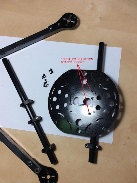 ensamblado de un quadcopter