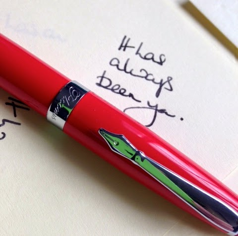 Red PLOOMS fountain pen