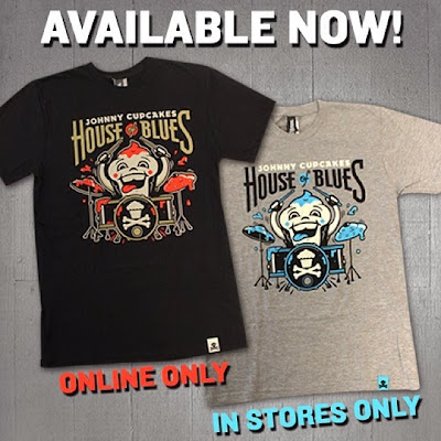 House of Blues 20th Anniversary T-Shirts by Johnny Cupcakes