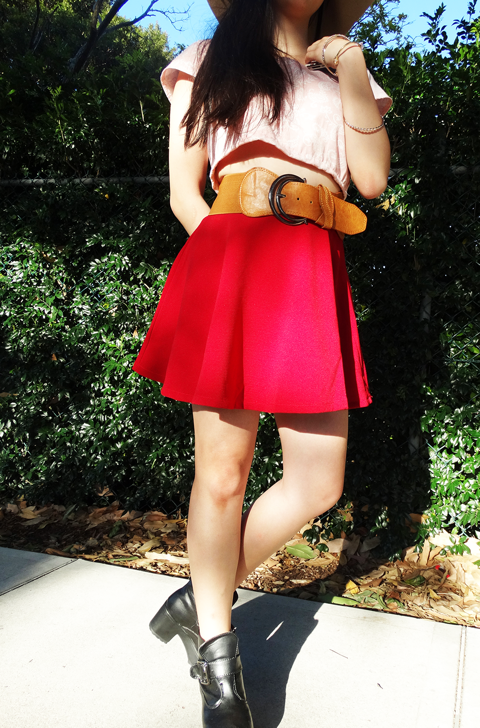 Fifi Lapin, giveaway, iconemesis, red, British label, crop top, diy, skater skirt