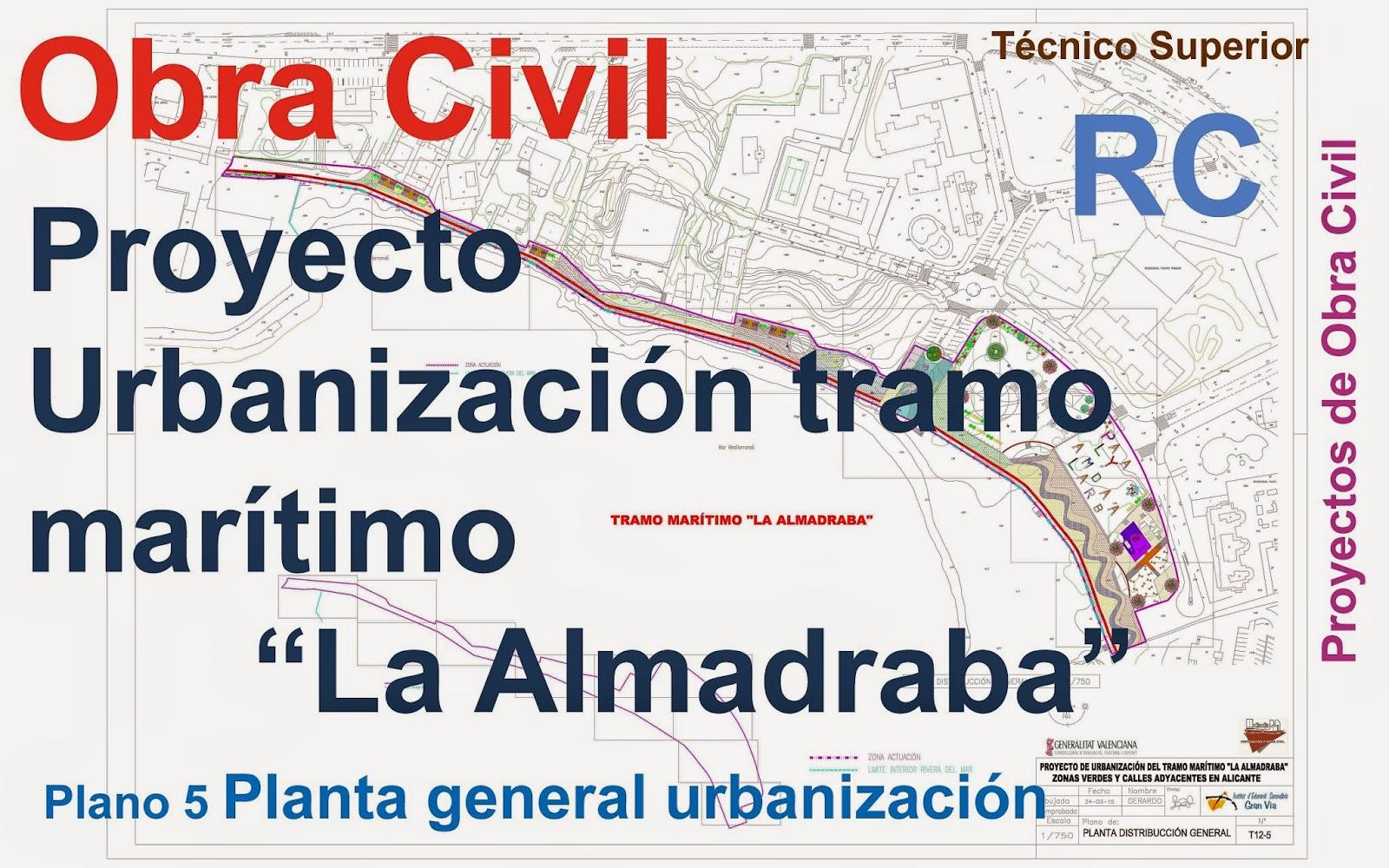 Rc i e s gran v a alicante pr ctica 11 planos 5 proyecto for Planos de obra civil