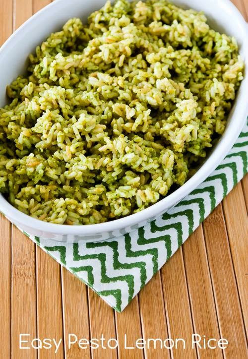 Easy Pesto Lemon Rice