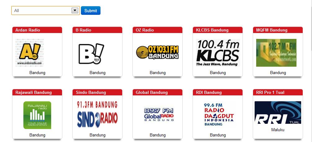 Daftar Channel Radio