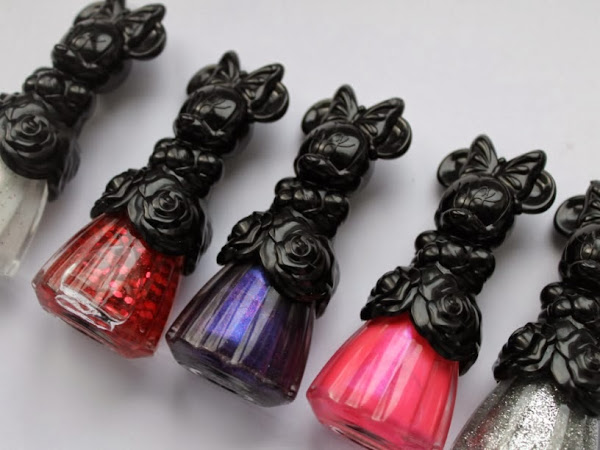 Anna Sui Minnie Mouse Xmas 2013 Nail Polishes.