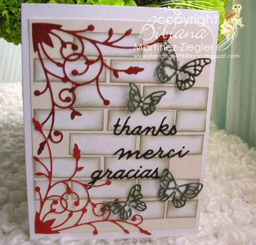 brick wall thank you card front