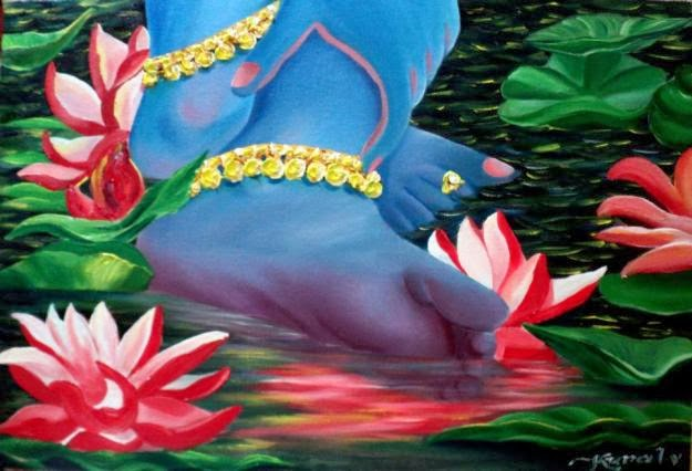 Lord Lord Krishna Lotus Feet Images for free download