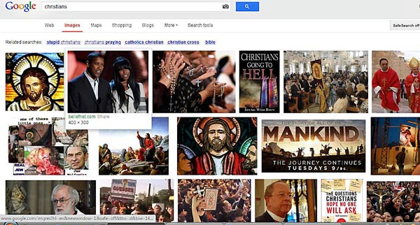 google search results for Christians